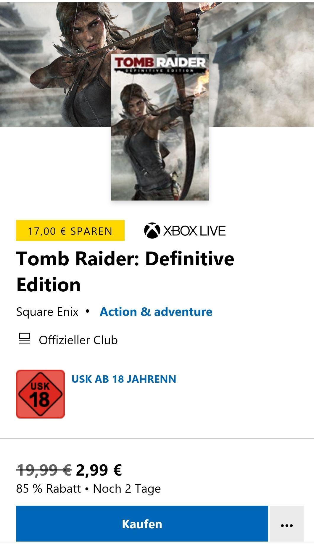 Xbox Microsoft Store Tomb Raider Definitive edition