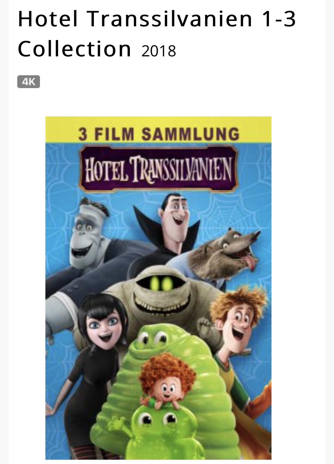 Hotel Transsilvanien 1-3 Collection 4K (iTunes)
