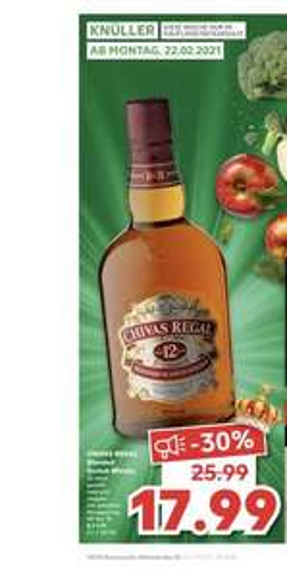 Homeoffice :-) Chivas Regal 0,7 Liter, 12 Jahre Kaufland Neckarsulm 17,99€ , ab 22.02.