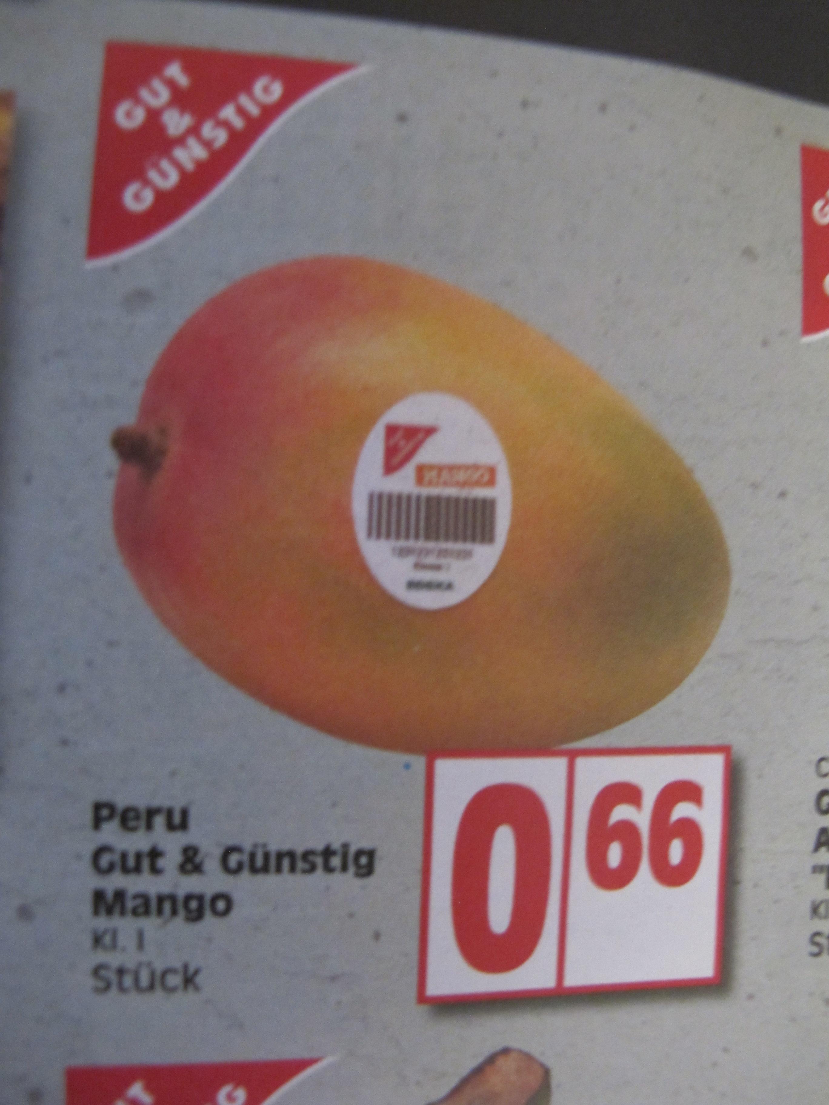 Mango für 66 Cent bei EDEKA in Berlin