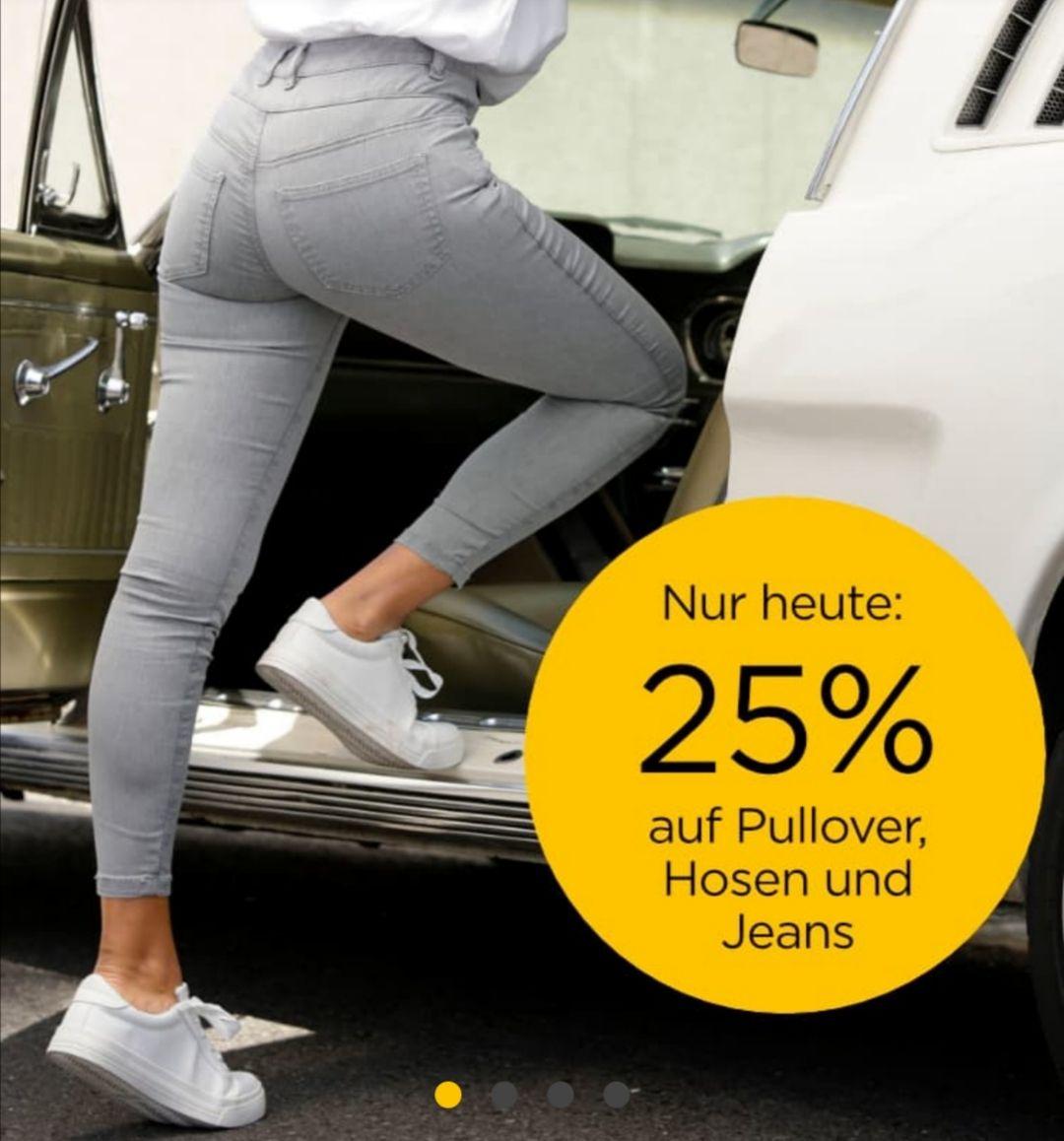25 Prozent Rabatt auf Hosen, Pullover und Jens