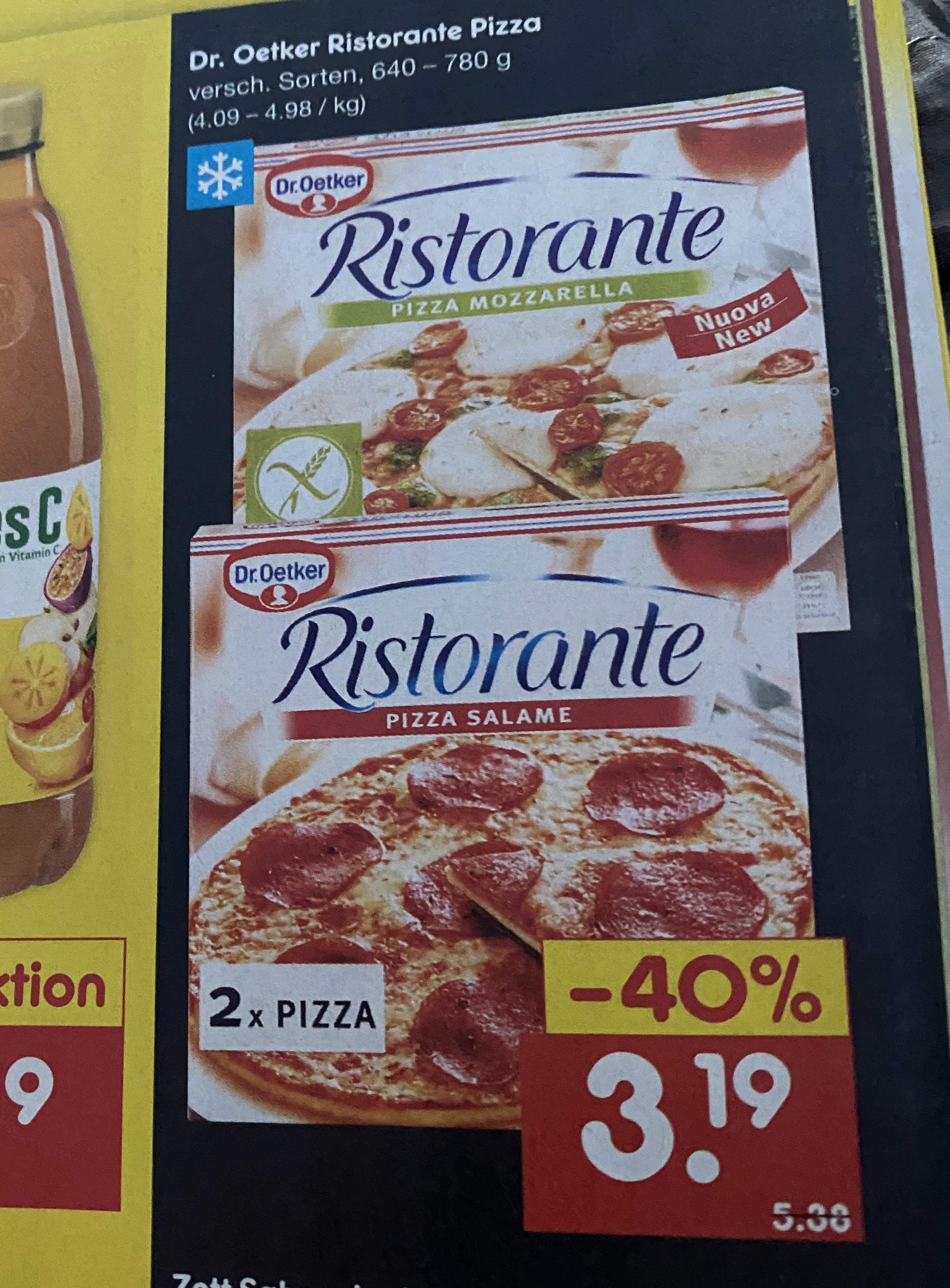 2x Dr.Oetker Ristorante Pizza bei Netto! (ab 18.02.)