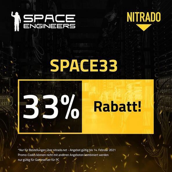 33% Rabatt Code auf Nitrado PC-Gameserver (Neubestellungen) z.B. für Valheim