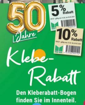 [Marktkauf Minden-Hannover] Klebe Rabatt KW 7+8 4x 5% und 1x 10% + 5fach Deutschland Card Punkte
