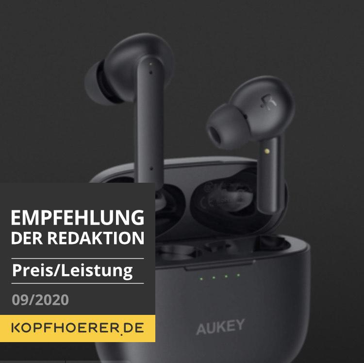 Aukey EP-N5 - Preiswerte, gut klingende True Wireless In-Ears Bluetooth Kopfhörer mit ANC - Bestpreis!