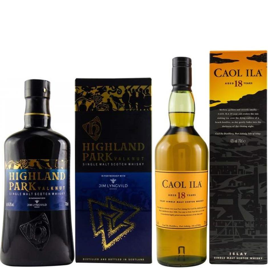 Whisky-Übersicht #73: z.B. Highland Park Valknut 46,8% für 41,95€, Caol Ila 18 Jahre Islay Single Malt 43% für 82,40€ inkl. Versand