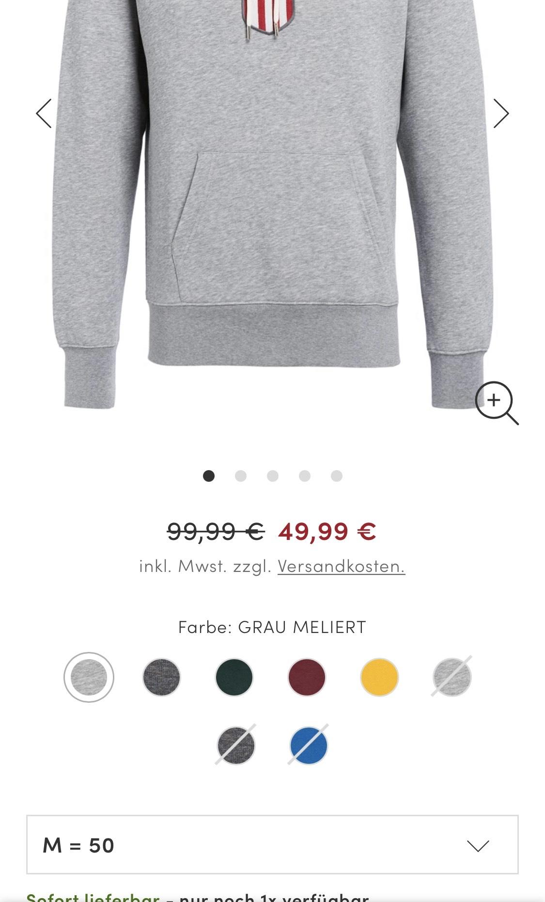 Gant Hoodie für 59,99€ vereinzelt sogar für 49,99€
