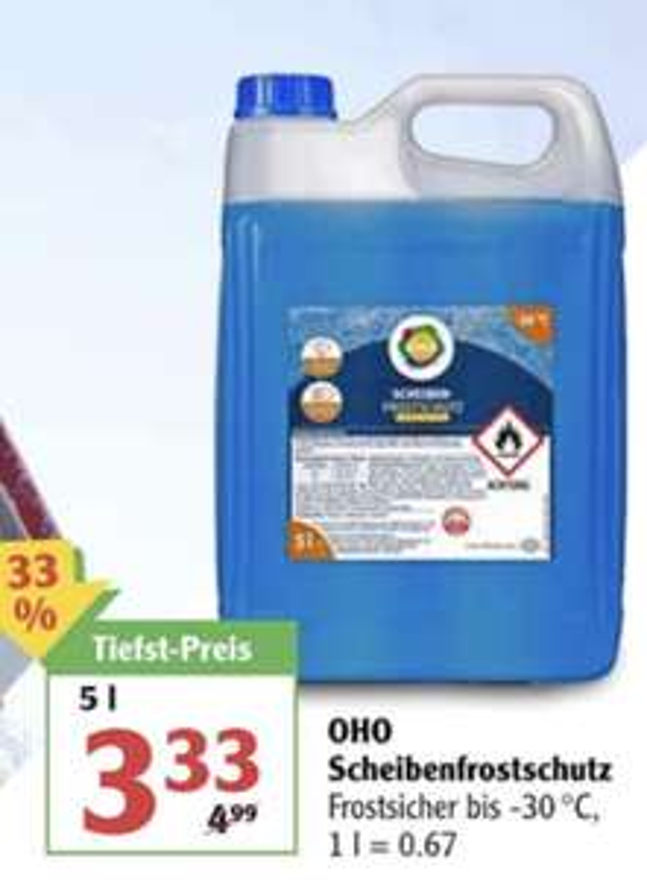 [Globus Filiale] 5 Liter (-30 Grad C) Scheibenfrostschutz