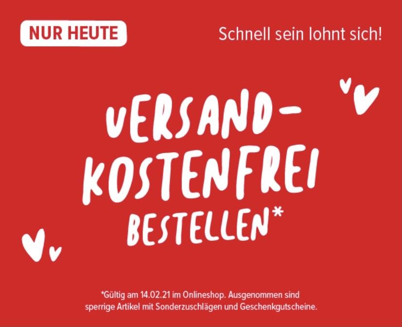 Versandkostenfrei bestellen am Valentinstag bei Babyone.de