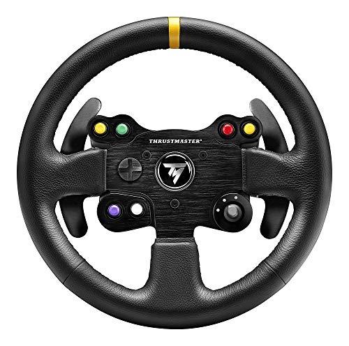 Thrustmaster Leather 28 GT Wheel AddOn (Lenkrad AddOn, 28 cm, Leder, PS4 / PS3 / Xbox One / PC)