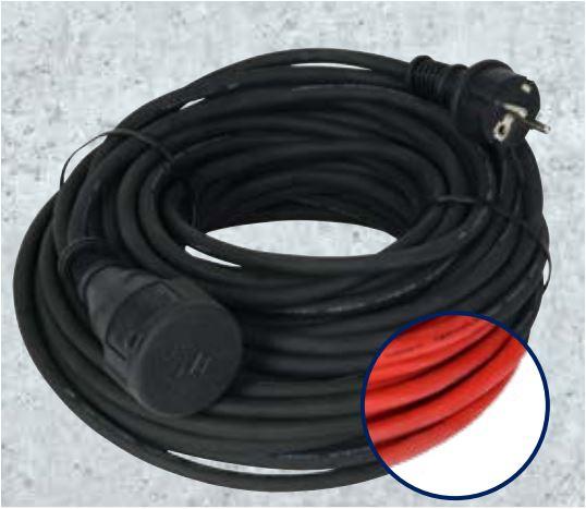 Verlängerungskabel 25m, IP44, schwarz oder rot für 17,99 Euro [Aldi]