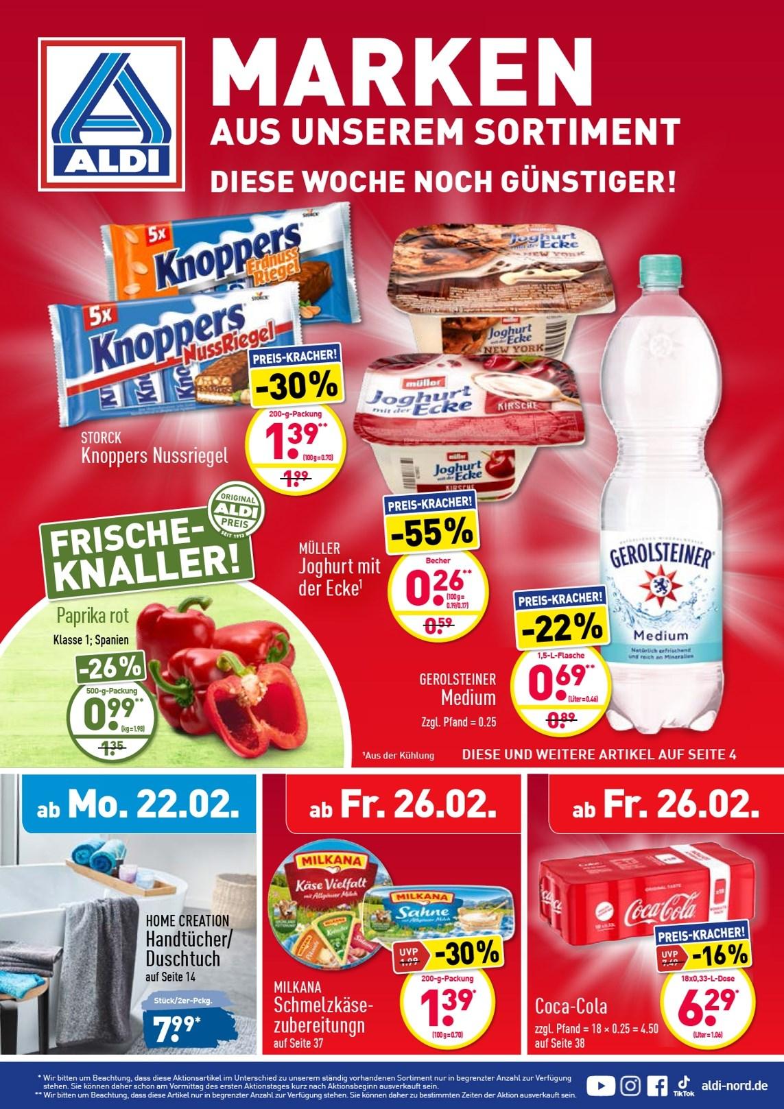 Aldi Nord Coca-Cola XL-Pack 18 Dosen