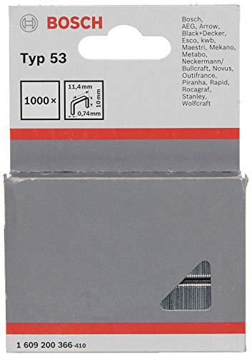(Prime) Bosch Professional Feindrahtklammer Typ 53 (für Textilien, Pappe, flache Holzleisten, Drahtgeflecht, Zubehör für Tacker)