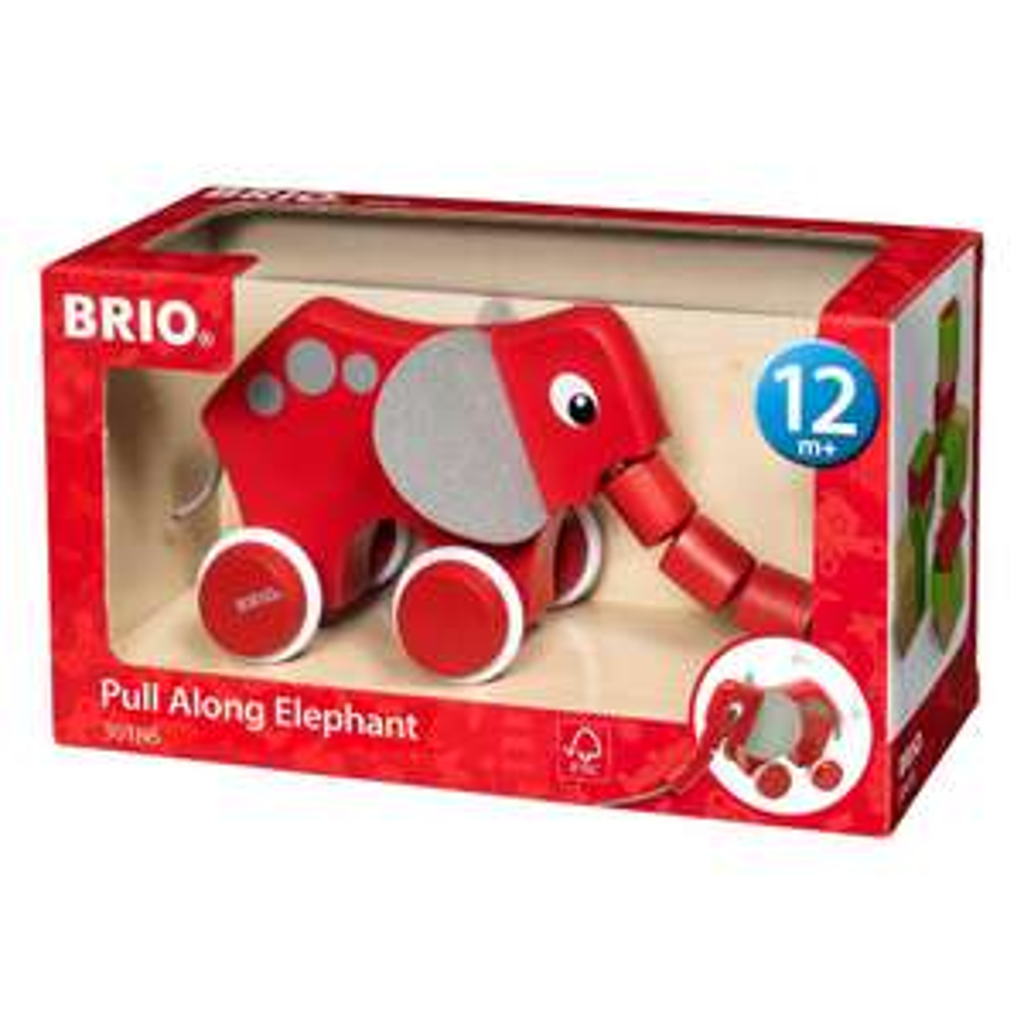 [Saturn-Abholung] BRIO-Sammeldeal, Brio Nachzieh-Elefant Nachziehspielzeug Rot/Grau, verschiedene Modelle