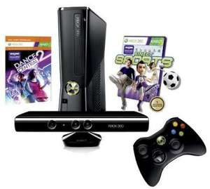 XBOX 360 Konsole 250 GB Kinect + Kinect Sports + Dance Central 2