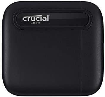 Crucial CT1000X6SSD9 X6 1TB Portable SSD – Bis zu 540MB/s – USB 3.2 – Externes Solid State Drive, USB-C [Amazon]