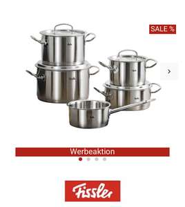 Fissler Topfset Original Profi Collection 5-tlg. (Edelstahldeckel)