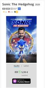 Sonic The Hedgehog 4K HDR (iTunes)