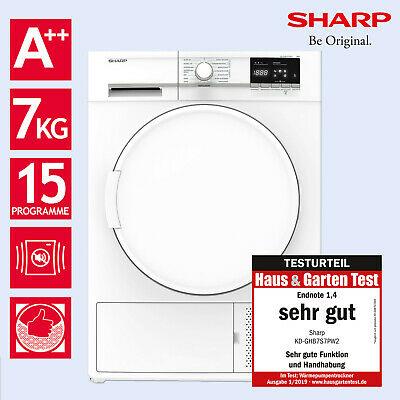 Sharp 7kg Wärmepumpentrockner A++ KD-GHB7S7PW2-DE