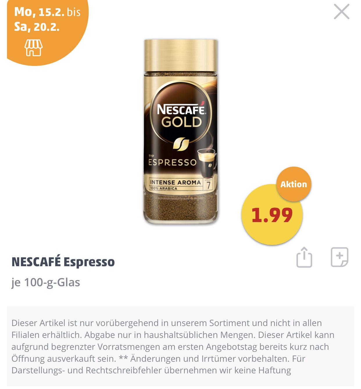 Nescafé Gold Typ Espresso 100g