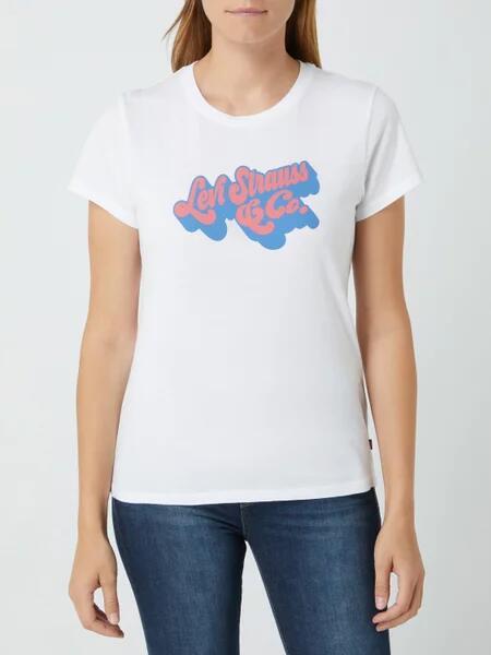 Levi's® The Perfect Tee - T-Shirt in Weiß aus reiner Baumwolle (Gr. XS-L)