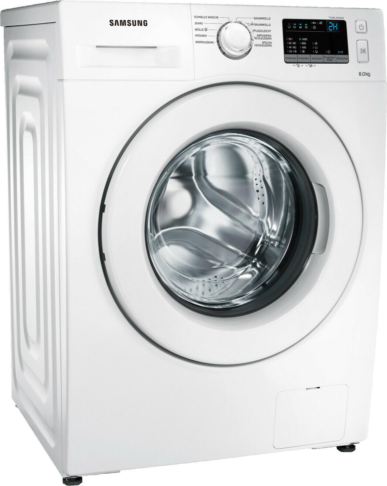 Samsung WW80J34D0KW Waschmaschine (Frontlader, 8kg, A+++, 1400U/min, 11 Programme)