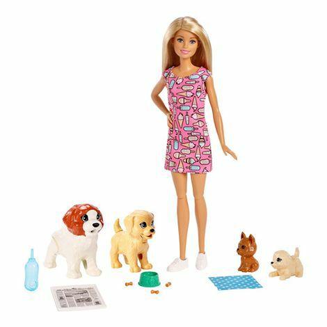 [Saturn Abholung] Barbie-Sammeldeal, BARBIE Hundesitterin Puppe und Welpen Puppenspielset