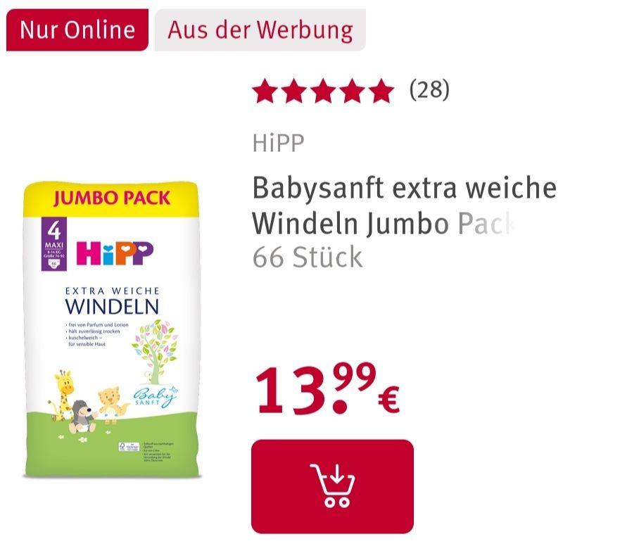 Hipp Babysanft Windeln Jumbo packs 2+1 Aktion
