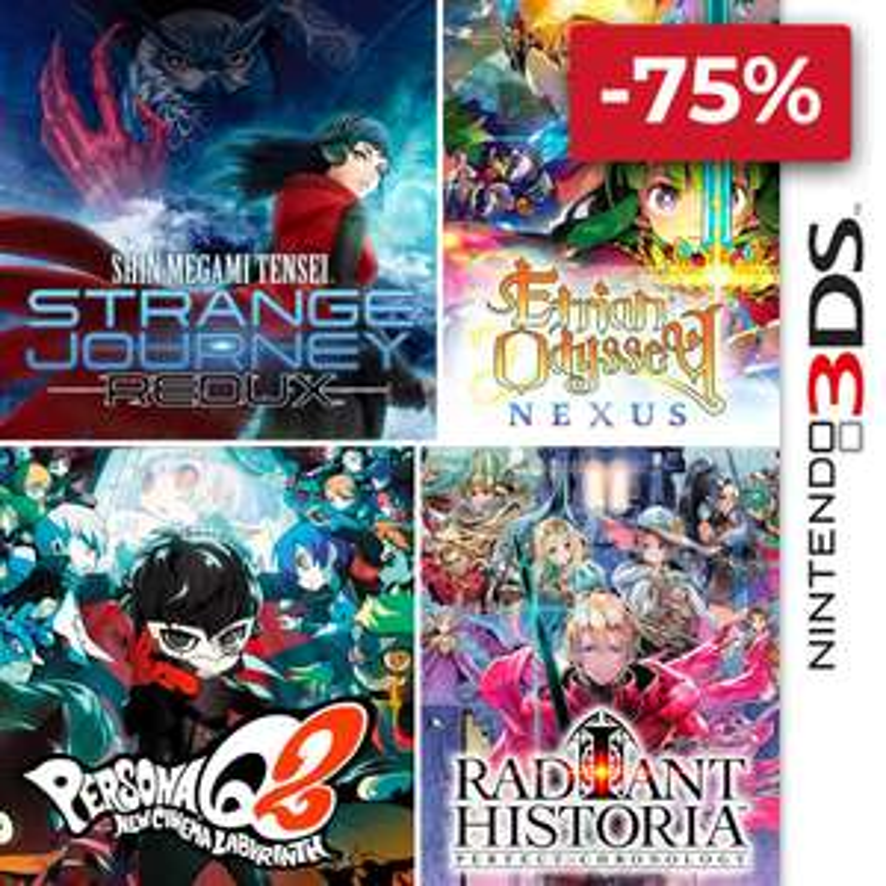 [Nintendo eShop] ATLUS-Spiele für 3DS: Persona Q2, Etrian Odyssey Nexus, Radiant Historia & Shin Megami Tensei: Strange Journey Redux