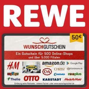 [Rewe] Bis zu 400 extra Payback Punkte auf WunschGutschein Karten z.B. mit Amazon, MediaMarkt, Ikea & Co. (8% Rabatt) (max. 2x50€ / 4x25€)