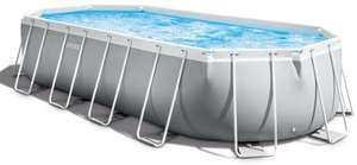 Intex Prism Frame Oval Pool 610 x 305 x 122 cm