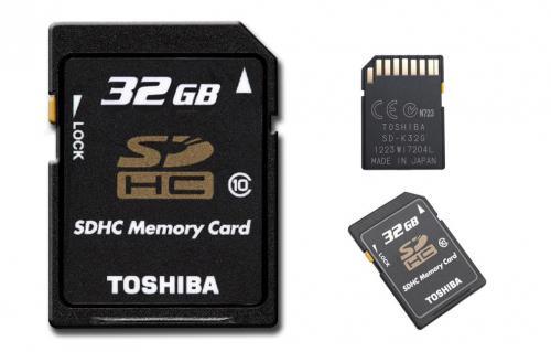 Toshiba 32GB Class 10 SDHC für nur 18,99 EUR inkl. Versand!