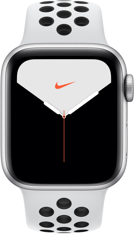 Apple Watch Nike Series 5 (GPS + Cellular) 40mm Aluminium silber mit Sportarmband pure platinum/schwarz für 369€   44mm für 389€