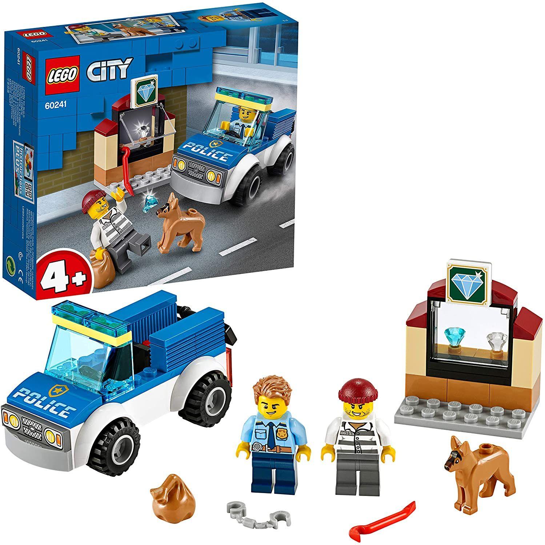 LEGO 60241 City 4+ Polizeihundestaffel mit Auto und Hundefigur für Kinder ab 4 Jahren Amazon Prime
