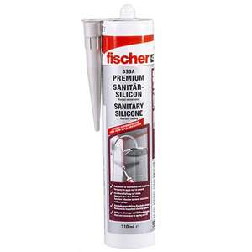 fischer Sanitärsilikon DSSA TP, 310 ml, transparent (Prime)