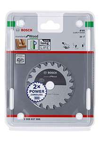 Bosch Professional Kreissägeblatt für Holz, 85 x 15 x 1,1 mm, 20 Zähne (Prime)