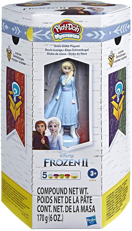 [Prime / Saturn Abholung] Play-Doh Mysteries Disney Die Eiskönigin 2 Elsas Schneekugel Spielzeug mit 5 Play-Doh Farben
