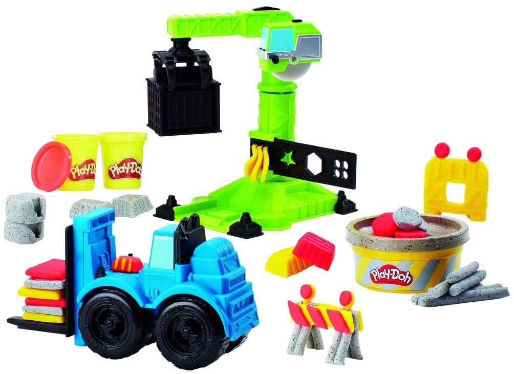 [Prime] PlayDoh E5400EU5 Kran und Gabelstapler, Knete für fantasievolles und kreatives Spielen