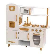 [Amazon] KidKraft 53445 Moderne Spielküche mit goldenen Akzenten und einem 27-teiligen Küchenset, Weiß-Gold