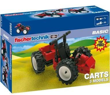[Saturn Abholung] FISCHERTECHNIK Carts, Rot- Schwarz, 3 Modelle baubar: Knicklenker, Monster-Quad, Renncart, 50 Teile