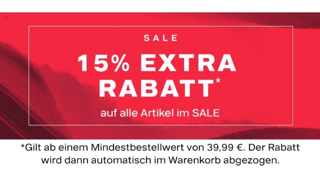 15% Rabatt in top auf Schuhe im Sale