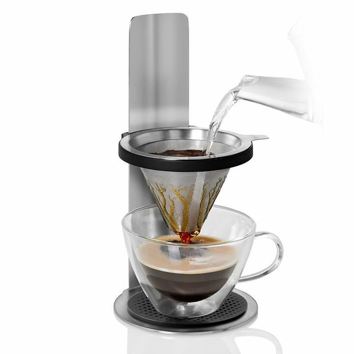 [tischwelt.de] Adhoc Kaffeebereiter Mr. Brew, mit Permanentfilter, für 1 Tasse bis 18 cm Höhe