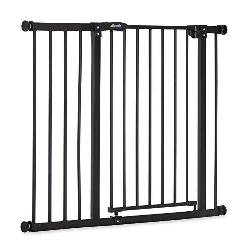 Hauck Tür- & Treppenschutzgitter Close N Stop Safety Gate inkl. 21 cm Verlängerung / ohne Bohren / 96 - 101 cm / Metall Gitter / schwarz