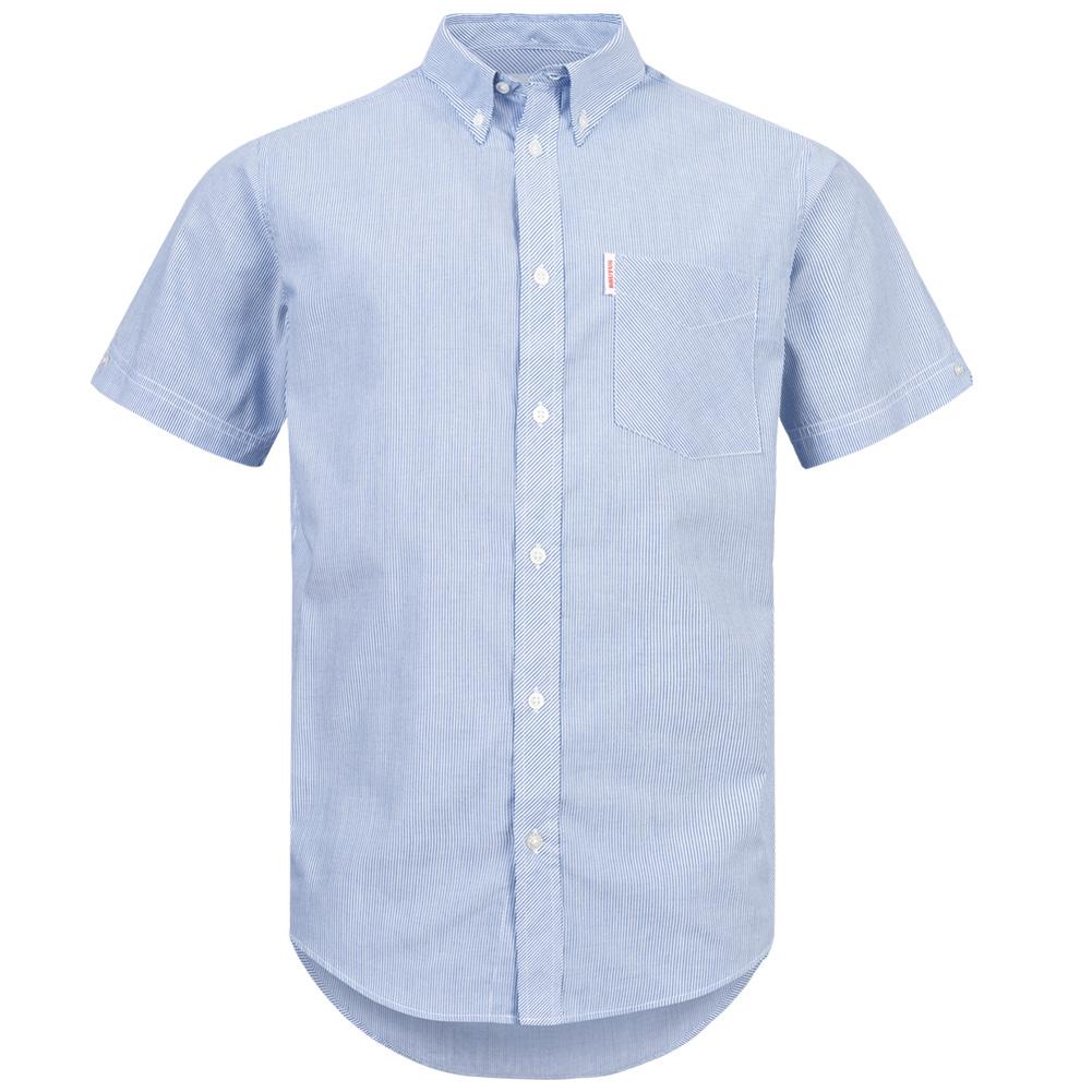 BRUTUS JEANS Kurzarm Hemd 10006 Blue Pin Stripe für 6,66€ + 3,95€ VSK (Größe S - L) [SportSpar]