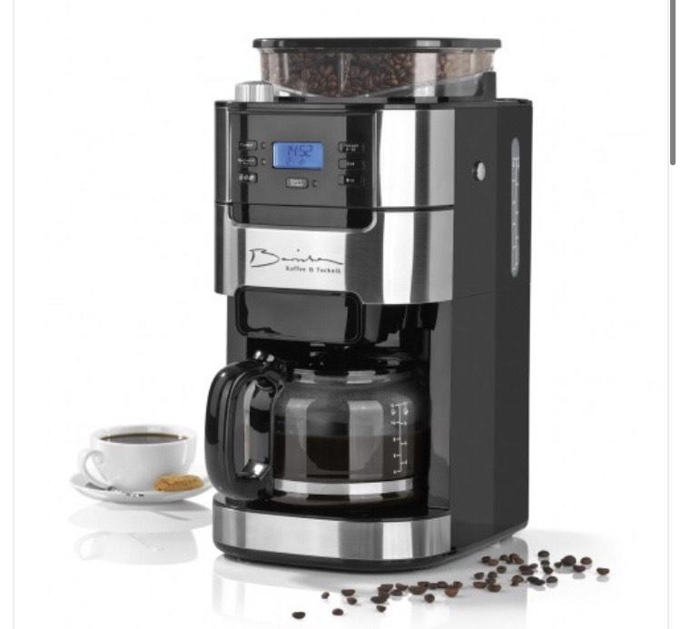 Barista Kaffeemaschine mit Mahlwerk 900 Watt - Edelstahl/Schwarz