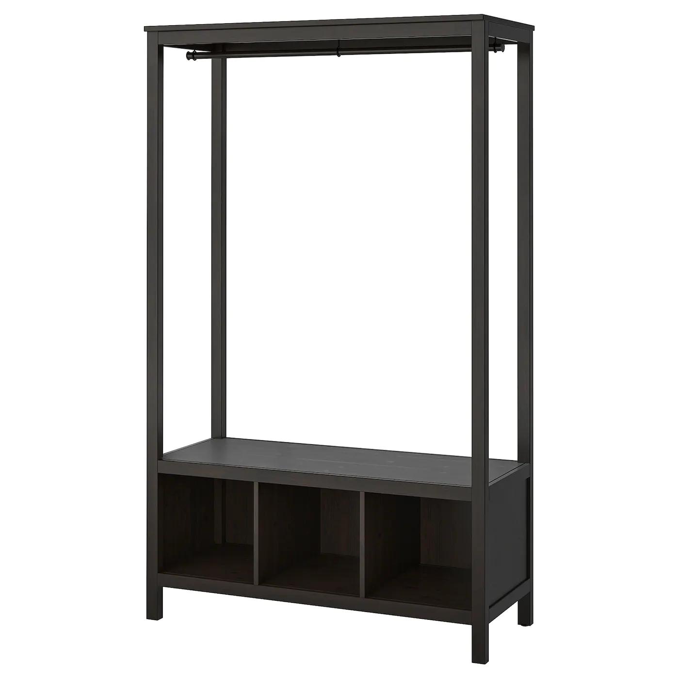 [Ikea Family] Hemnes Kleiderschrank, offen, schwarzbraun ( 120x50x197 cm )