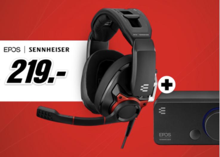 EPOS SENNHEISER GSP 600 Over-ear Gaming Headset + EPOS Sennheiser GSX 300 Gaming Dac externe USB-Soundkarte für zusammen 209€