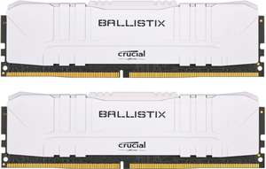 Crucial Ballistix White - 16GB DDR4 Kit RAM - 3000 MHz - CL15-16-16-35