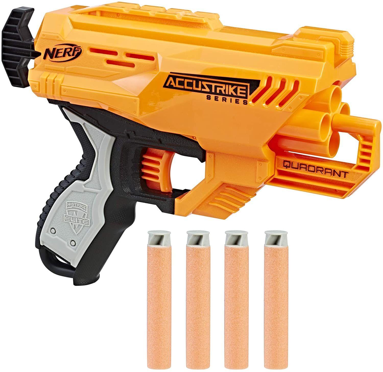 [ Prime / Saturn Abholung] Hasbro E0012EU4 - N-Strike Elite AccuStrike Quadrant kompakter Einzelschuss-Spielzeugblaster