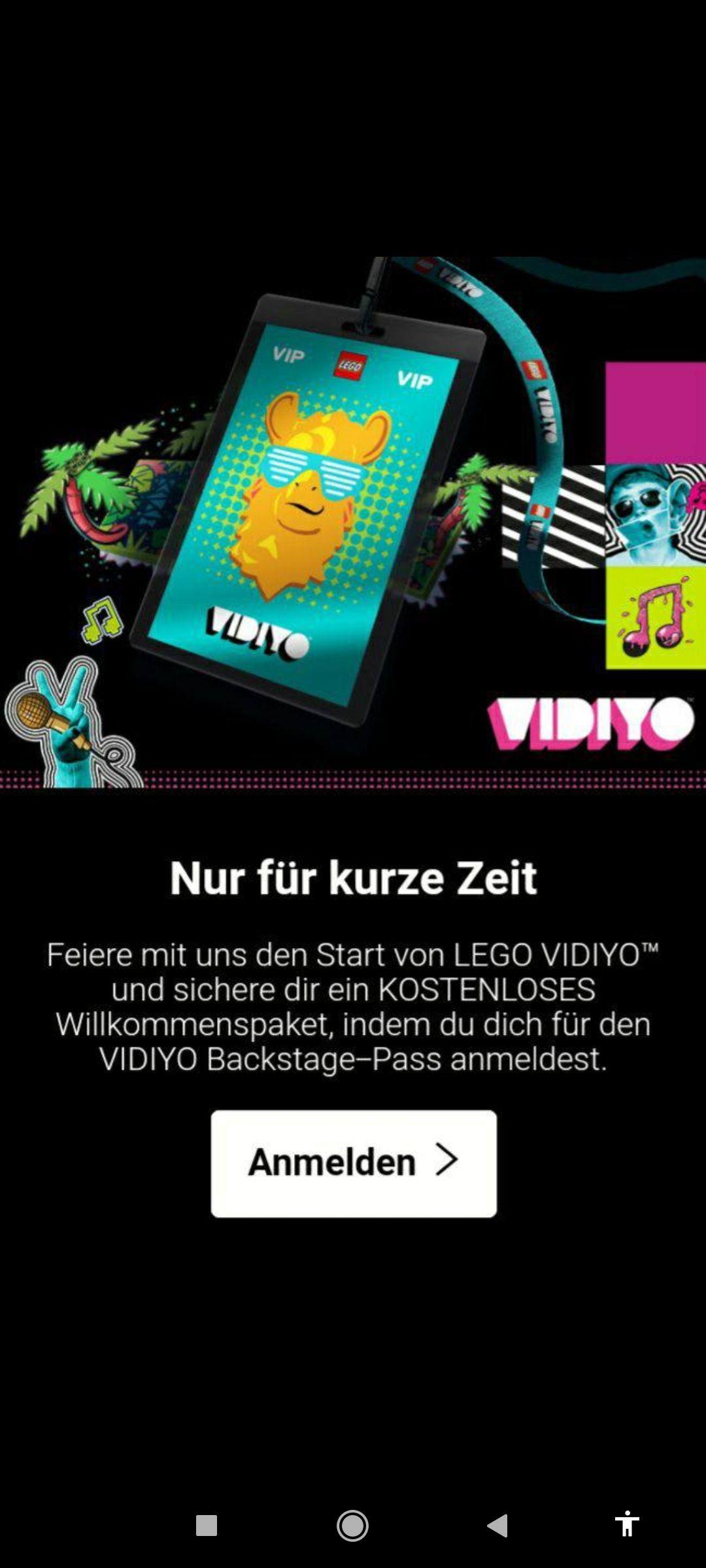 Gratis Lego Vidiyo Wilkommenspaket - personalisiert